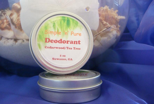 2 oz Tea Tree/Cedarwood Natural Deodorant